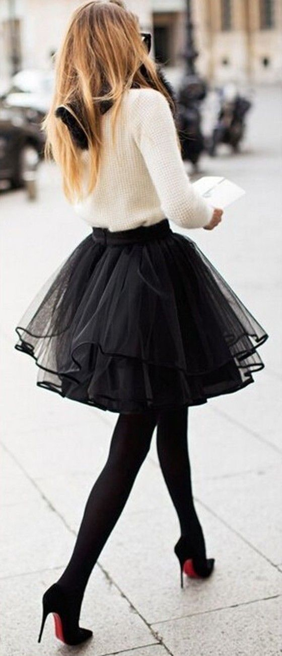 Black Plain Pleated Tiered Ribbon Lining The Edge Party Tulle Chiffon Adorable…