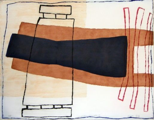 Conversations with my father I by Yvonne Boag - etching