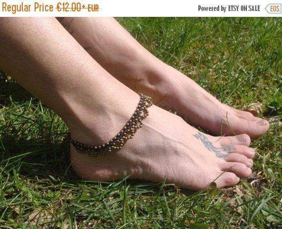 15 % de RÉDUCTION perles bracelet de cheville indien, cheville en macramé gypsy, bracelet de cheville en laiton couleur Bronze, Boho bracelet de cheville, cheville pour femme, bracelet de cheville hippy, cheville enfants, filles