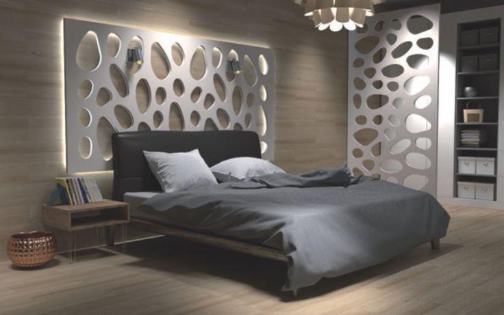 panouri mdf vopsit placare perete design dormitor