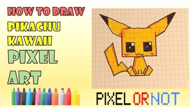 In This Easy Drawing Pixel Art Kawaii Tuto Learn How To Draw