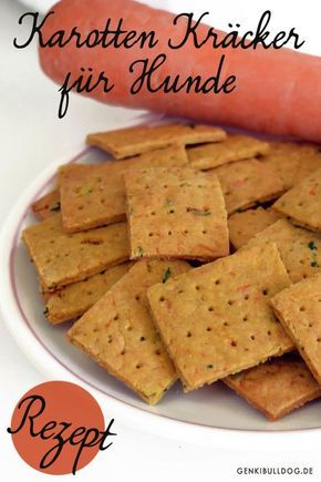 Recipe: Carrots crackers for dogs