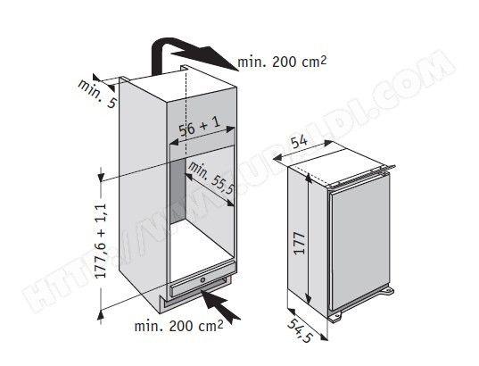 Réfrigérateur encastrable 1 porte WHIRLPOOL ARG749/A+/1