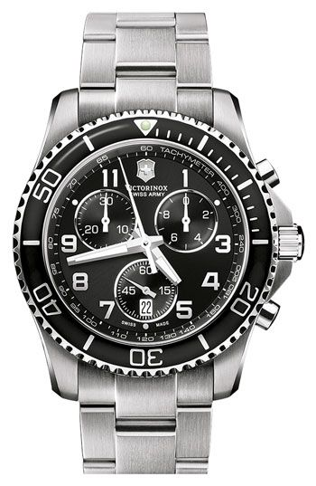 Victorinox Swiss Army® 'Maverick GS' Stainless Steel Chronograph Watch available at #Nordstrom