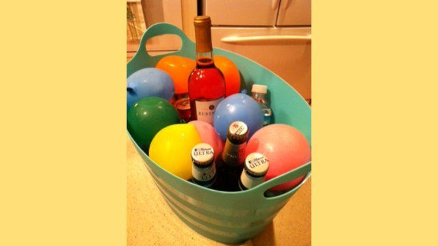 Freeze Water Balloons to Keep Drinks Cold