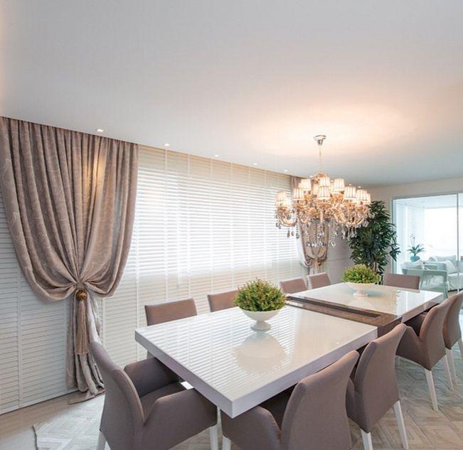 Construindo Minha Casa Clean: 21 Decoração de Cortinas de Tecido com Persianas!