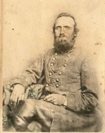 """Stonewall Jackson, """"Winchester photograph"""", 3/4 pose, 1862 :: VMI Archives Photographs Collection"""
