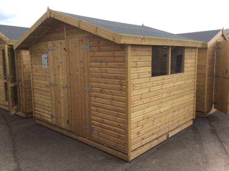 Double doors available on all our sheds, size permitting.