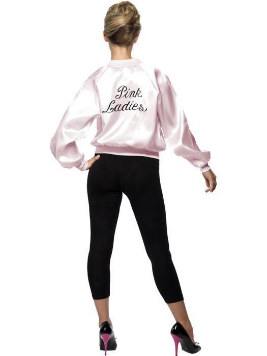 Pink lady jasje Grease maat S - Las Fiestas