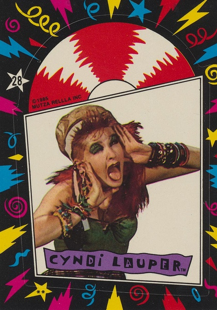 Cyndi Lauper Sticker - MUTZA RELLA INC 1985