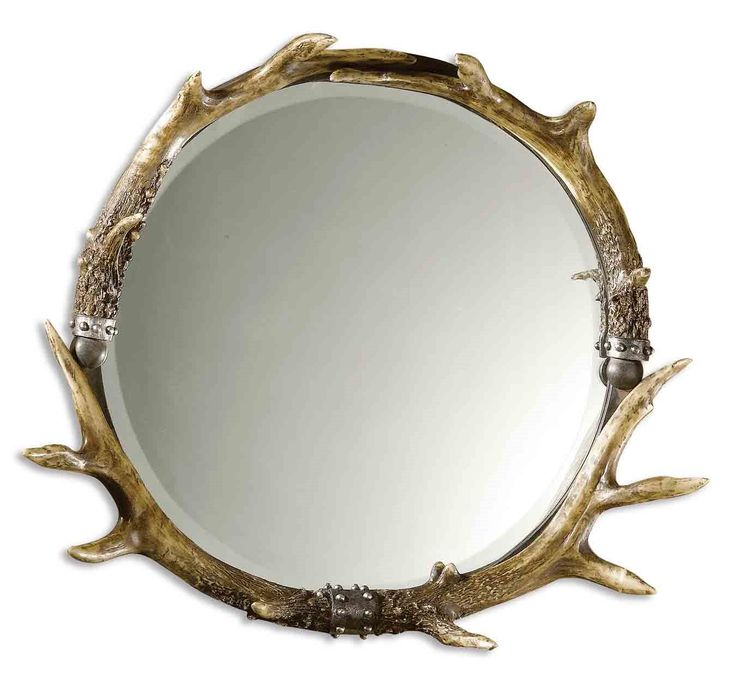 South Shore Decorating: Uttermost 11556 B Stag Horn Round Traditional Mirror UM-11556-B