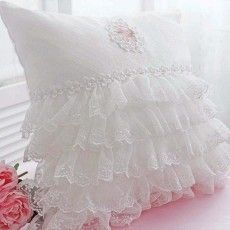 Lace Love Ruffle Cushion Cover
