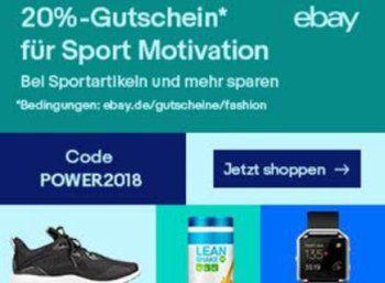 Ebay: 20 Prozent Rabatt auf Sportartikel für zwei Wochen https://www.discountfan.de/artikel/klamotten_&_schuhe/ebay-20-prozent-rabatt-auf-sportartikel-fuer-zwei-wochen.php Bei Ebay gibt es ab sofort für zwei Wochen einen Rabatt von 20 Prozent auf Sportartikel und Fitness-Geräte. Pro Person darf der Gutschein einmal eingelöst werden. Ebay: 20 Prozent Rabatt auf Sportartikel für zwei Wochen Um an den Ebay-Rabatt von 20 Prozent auf Sportartikel und Fitness-Geräte zu...
