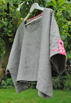 DIY top oversize: site is in French but, the pictures are pretty much all you need.