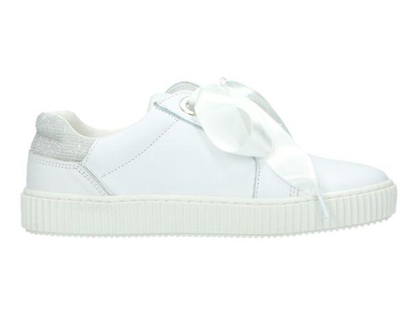 Satijnen veters Sneaker POELMAN 243018 P5146 WHITE | P5146 WHITE | BERCA.BE | Schoenen online kopen | Gratis verzending | Niet tevreden, Geld Terug | 100% Veilig | Zeer grote keuze