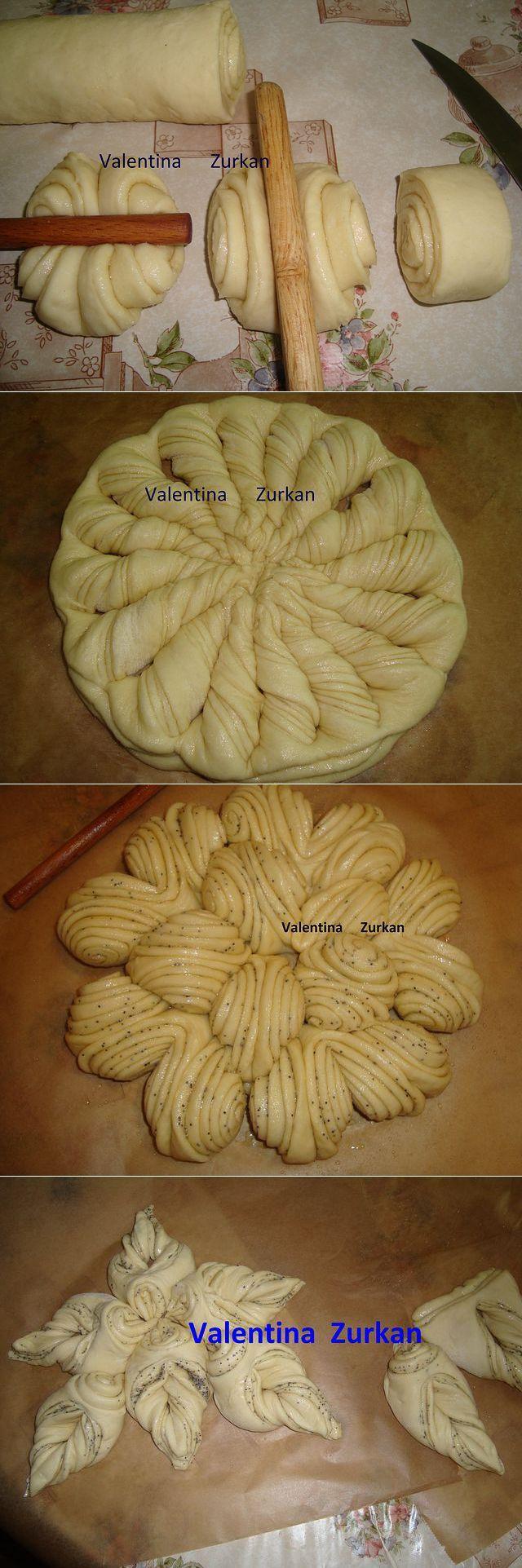 Blätter-, oder Hefeteig Muster 2
