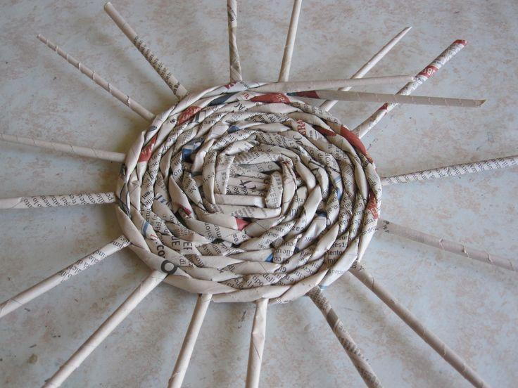 Basket Weaving Essay : Intreccio con cannucce di carta tutorial paper diy