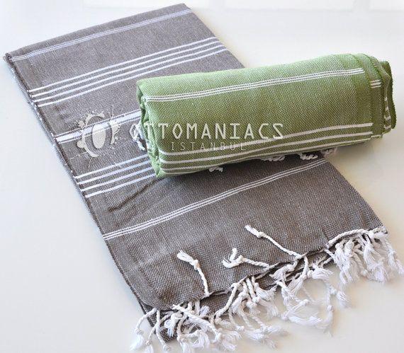 Towel Bath Fouta Hammam 2 Pcs Anniversary Gift Body by Ottomaniacs