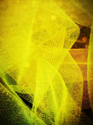 Diary of Rainbows: Lemonade, Limeade tulle, yellow, neon yellow