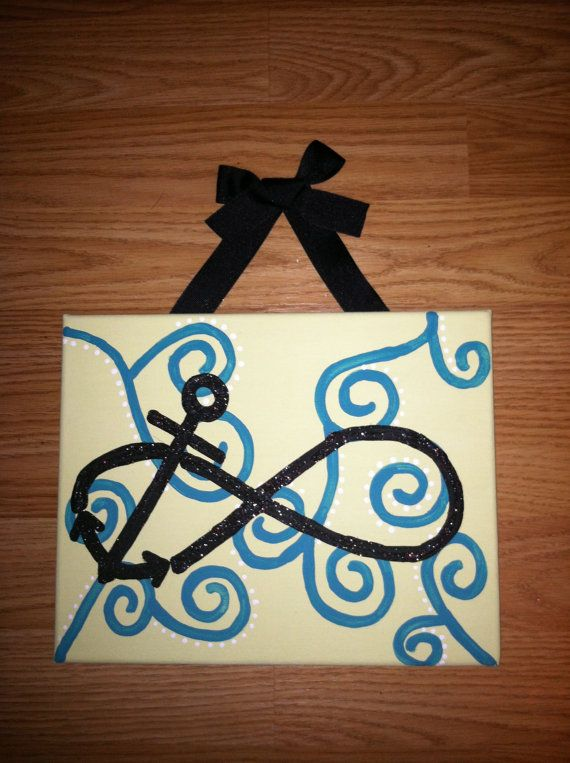Infinity Anchor Canvas 8x10 made to order by AnnaCarolinesCrafts, $8.00