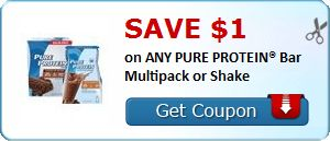 New Coupon!  SAVE $1.00 on ANY PURE PROTEIN® Bar Multipack or Shake! - http://www.stacyssavings.com/new-coupon-save-1-00-on-any-pure-protein-bar-multipack-or-shake/