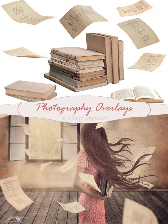 photo overlays for Photoshop,books, cards,book,PSD,PNG