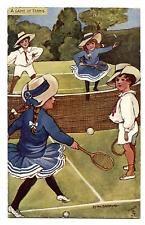 SPORT.OILETTE.RAPHAEL TUCK.ENFANTS CHILDREN.JOUEURS DE TENNIS.A.GAME OF TENNIS