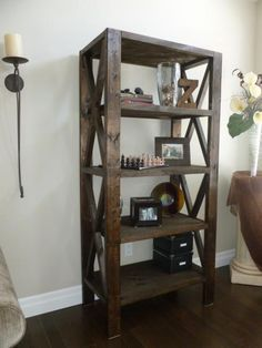 Rustic Bookcase | Do It Yourself Home Projects from Ana White Follow me on twitter @fernanmedequill