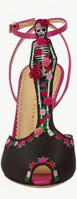 SOOOO NEED THESE SEXY BABIES!!  Charlotte Olympia Resort 2015 Skeleton T-Strap Sandal #Shoes #Heels