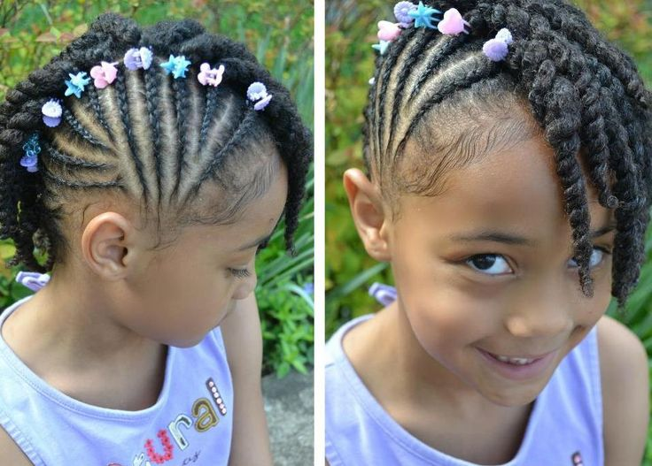 Black Hairstyles With Side Braids: 264 Best Images About Black Little Girl Hairstyles On