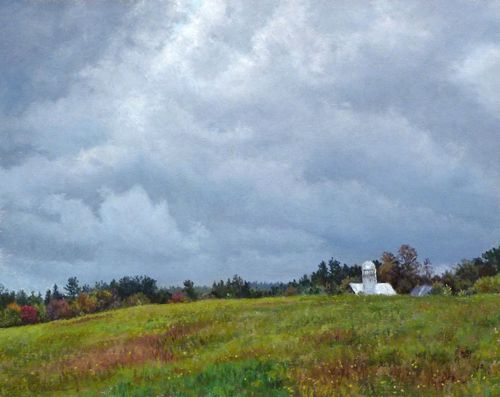 Cindy House Approaching Storm Pastel 8 x 10 inches
