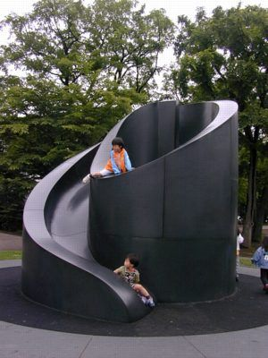 playground design.  It looks fun, but I keep thinking the black would make it really hot.