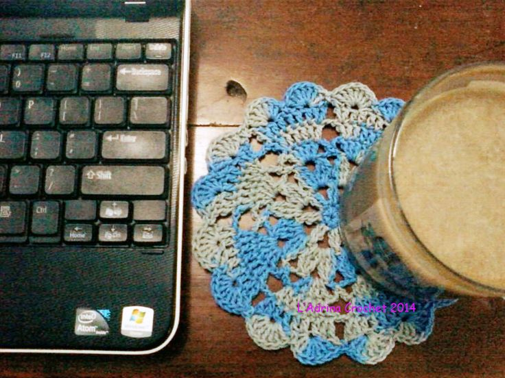 You can find doily's pattern in  http://goo.gl/I1aobv  Saturday morning, coffee, crochet the doily - love my life <3