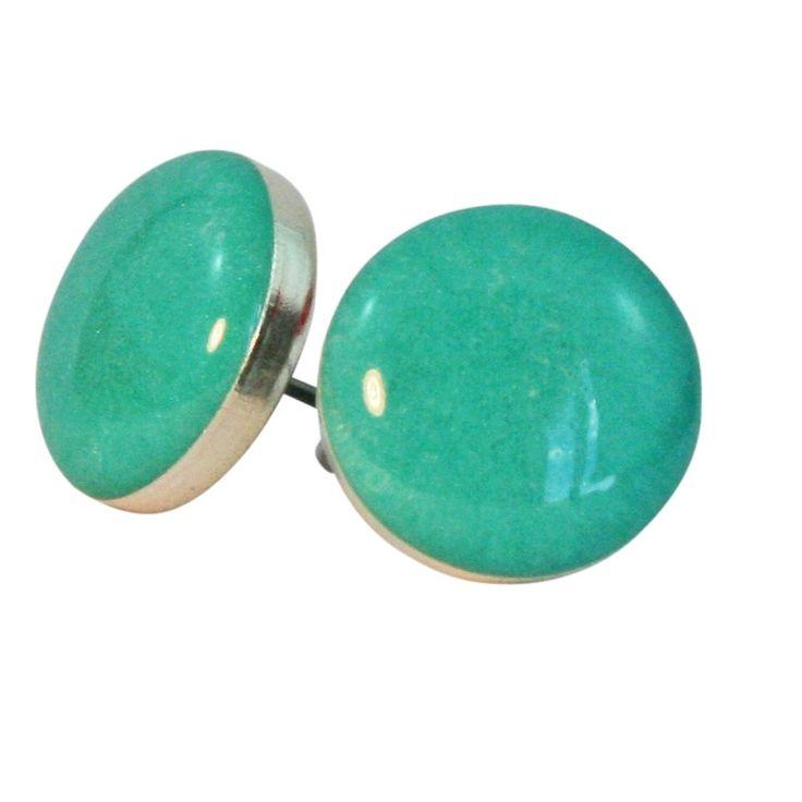 Seafoam petite stud earrings