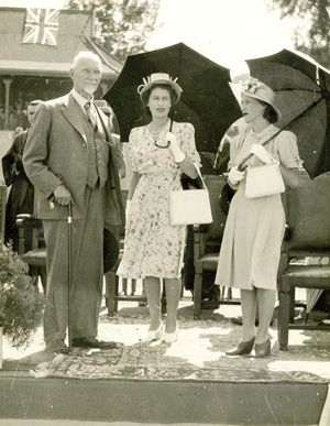Jan Smuts and Princess Elizabeth and Princess Margaret on their visit to South Africa.