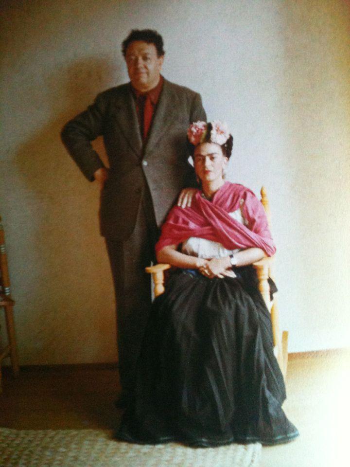 Frida Kahlo, Diego Rivera, NY, photographer: Nickolas Muray