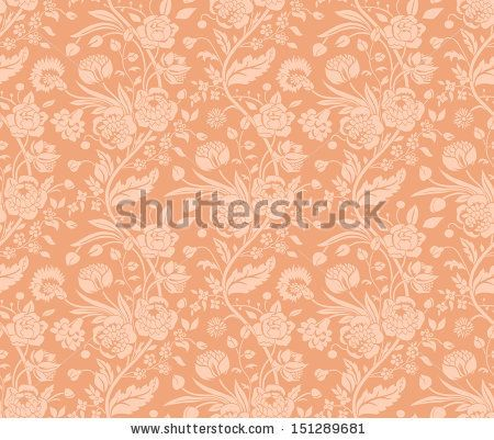 Pastel seamless pattern with a vintage flower bouquets carnations and chrysanthemums - stock vector