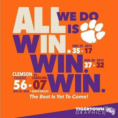 Clemson Tigers vs. Carolina Gamecocks 2016