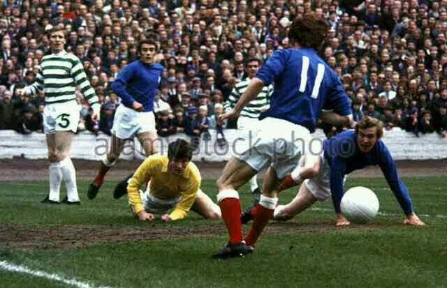 Celtic 1 Rangers 1 in May 1971 at Hampden Park. Celtic survive a scare in the Scottish Cup Final.