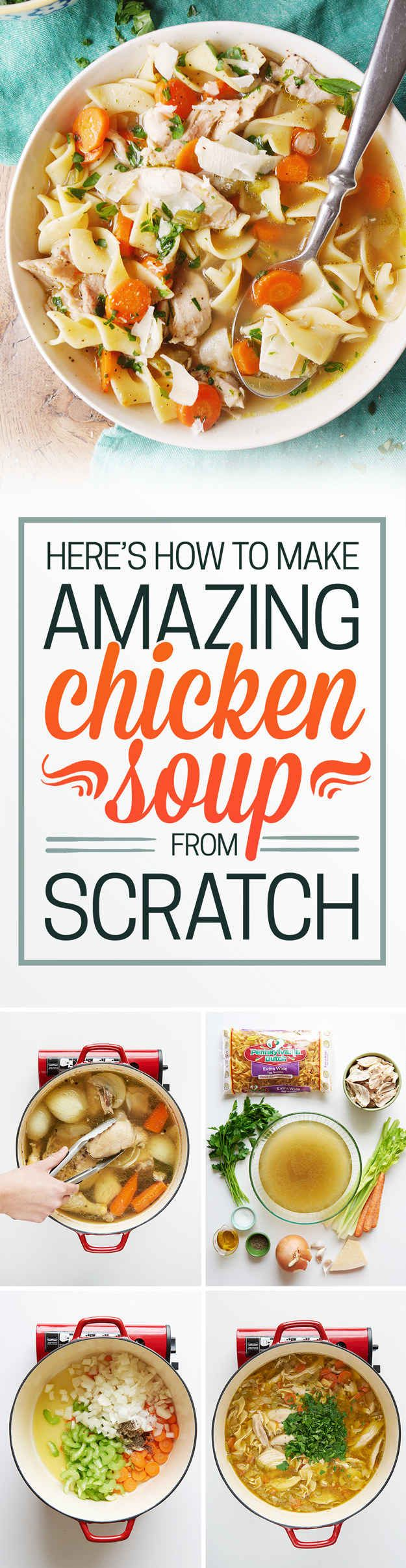 Have you ever wondered why your mom's homemade chicken soup tasted so delicious? I hate to break it to ya, but love wasn't the ~only~ reason it tasted so good. It was FROM SCRATCH.