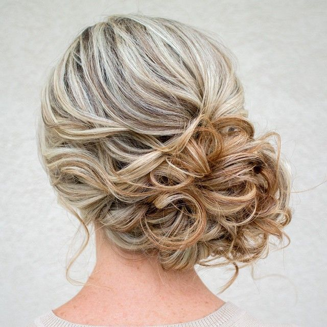 curled side updo ~ we ? this! moncheribridals.com #weddingupdo