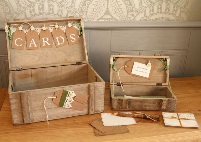 Personalised wooden wedding card and wishes boxes Keepsake wish set £72.99