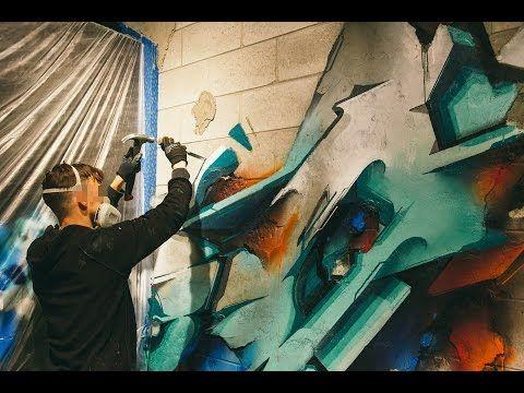 DOES 'Brick in the Wall' at Ironlak Art & Design Chermside – video — Ironlak