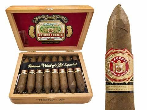 New $177.49 Online Cigar Deal: ARTURO FUENTE HEMINGWAY WORK OF ART $177! added to our Online Cigar Shop https://cigarshopexpress.com/online-cigar-shop/cigars/cigars-arturo-fuente-hemingway/arturo-fuente-hemingway-work-of-art/ Arturo Fuente Hemingway Work of Art Natural are among the most exclusive legendary, ultra premium handmade available today. Originally introduced in the 1980's, right afterCarlos F ...