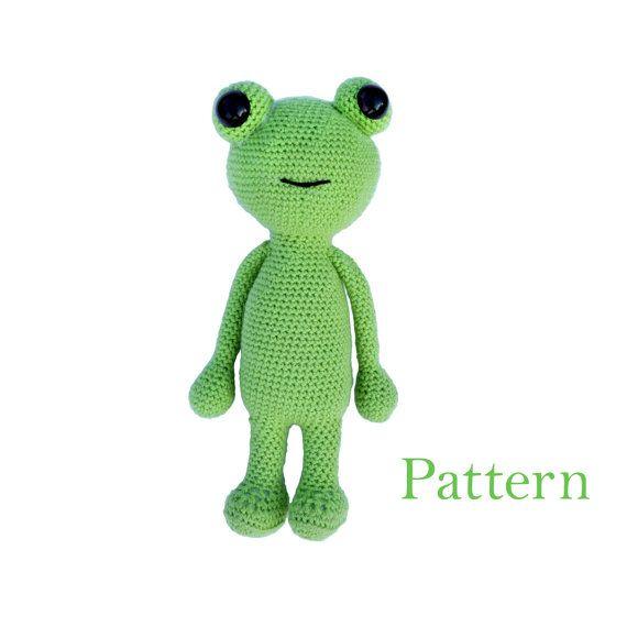 Frog Amigurumi Crochet Animal Soft Toy Pattern by roamingpixies