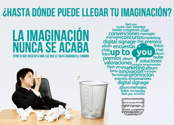 Cuando tu imaginación ya no puede... la solución no está en tirar la toalla, pero si en buscar alternativas que te puedan ayudar a mejorarla!  www.uptoyou.es