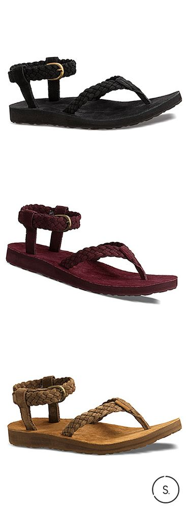 Suede braided straps give a nod to the Seventies in these Teva original sandals, the perfect transitional sandal for early Fall.