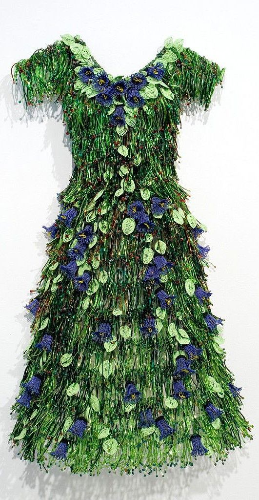 Liza and the Code of Art | Norgard Designs,it's all beaded...lots of bugle beads alter idea to use fringes with flapper style dress.