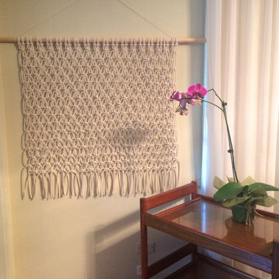 Large natural white Macrame wall hanging by LittleCorrie on Etsy Visit my Etsy shop to purchase my creations https://www.etsy.com/au/shop/LittleCorrie?ref=shop_sugg