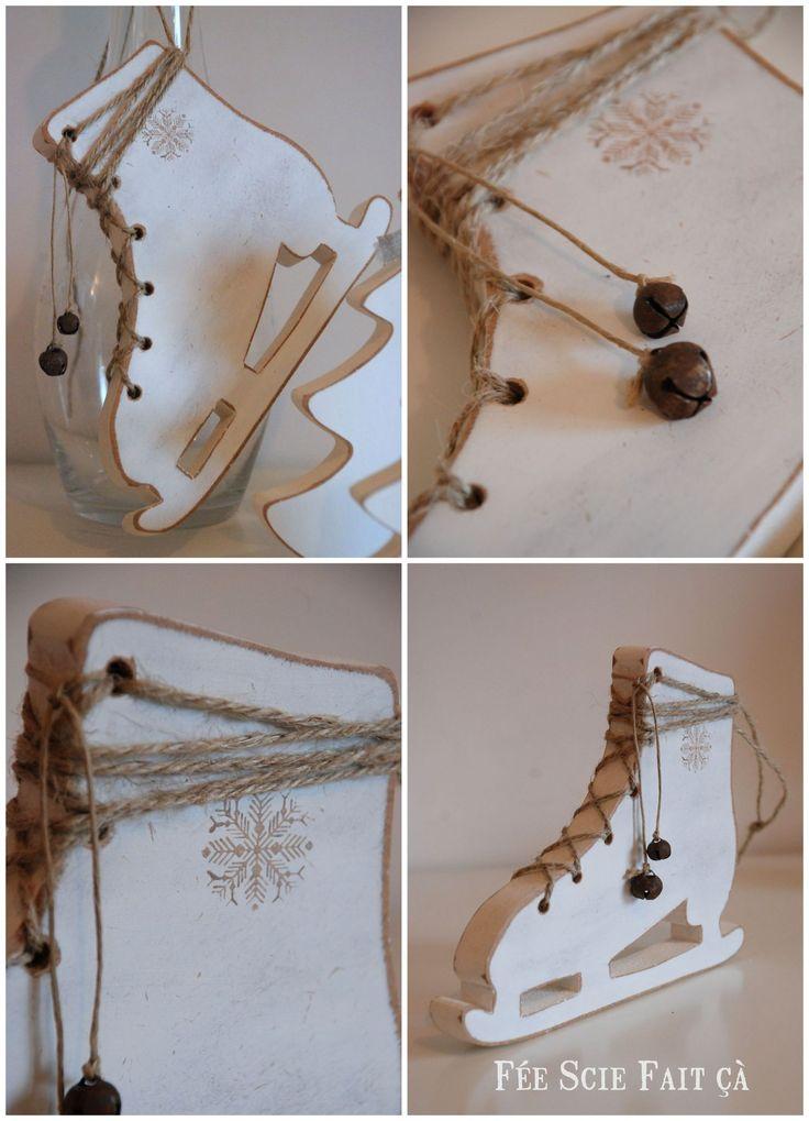 ice scate - houten schaatsen winterdecoratie